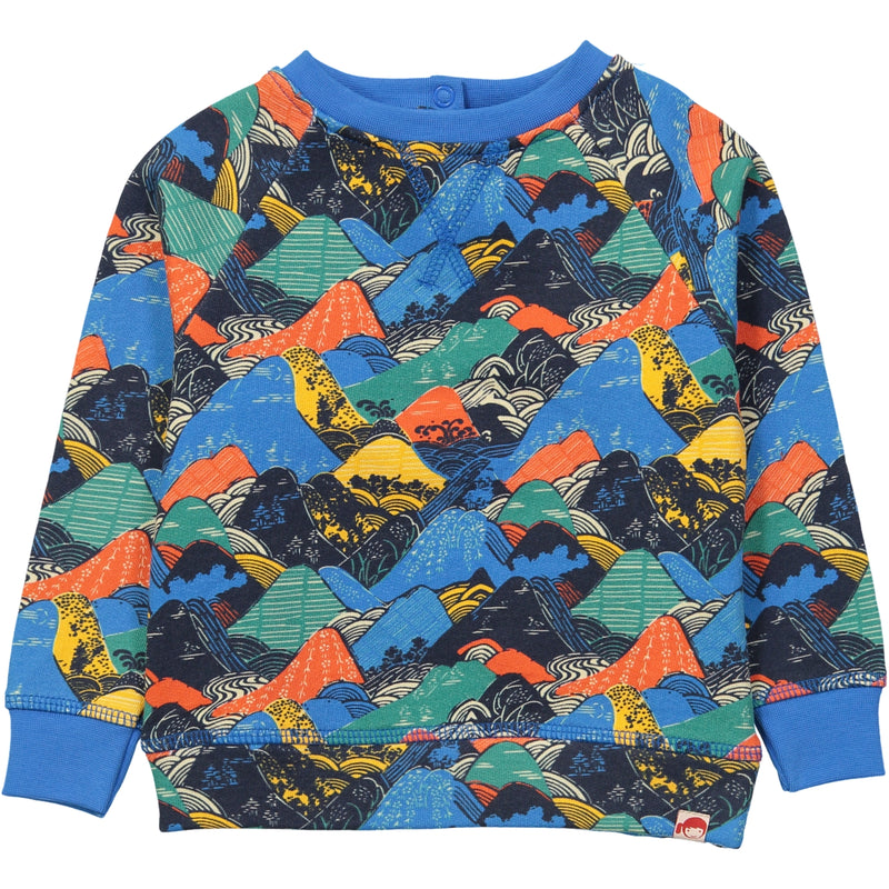 AYAKO Organic Cotton Printed Sweatshirt/Navy
