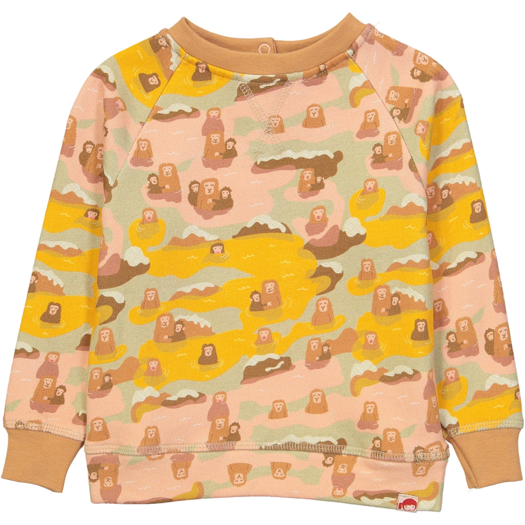 AYAKO Organic Cotton Printed Sweatshirt/Yellow