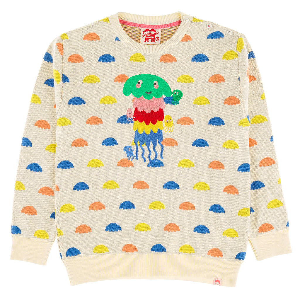 CLOUDBREAK JELLYFISH Organic Cotton Knit Jumper/Cream