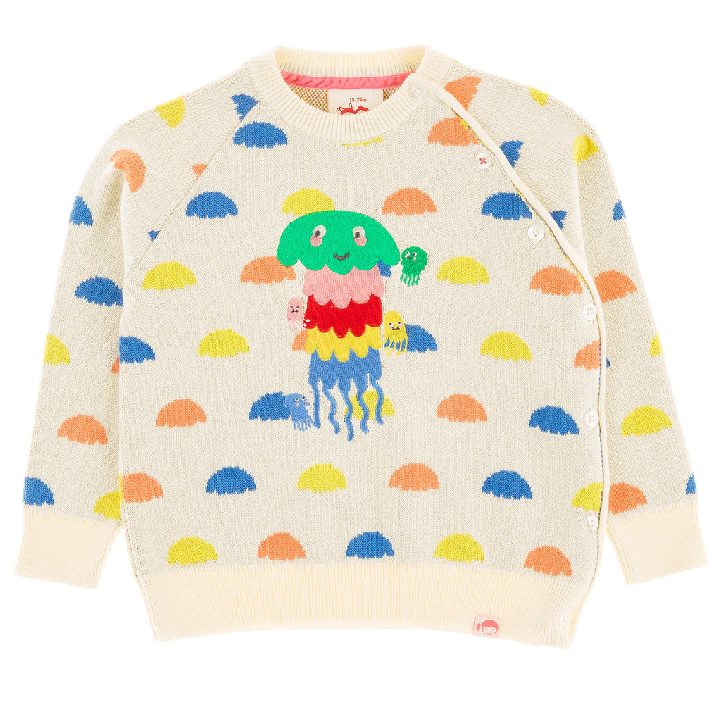CLOUDBREAK JELLYFISH Tots Organic Cotton Knit Jumper/Cream