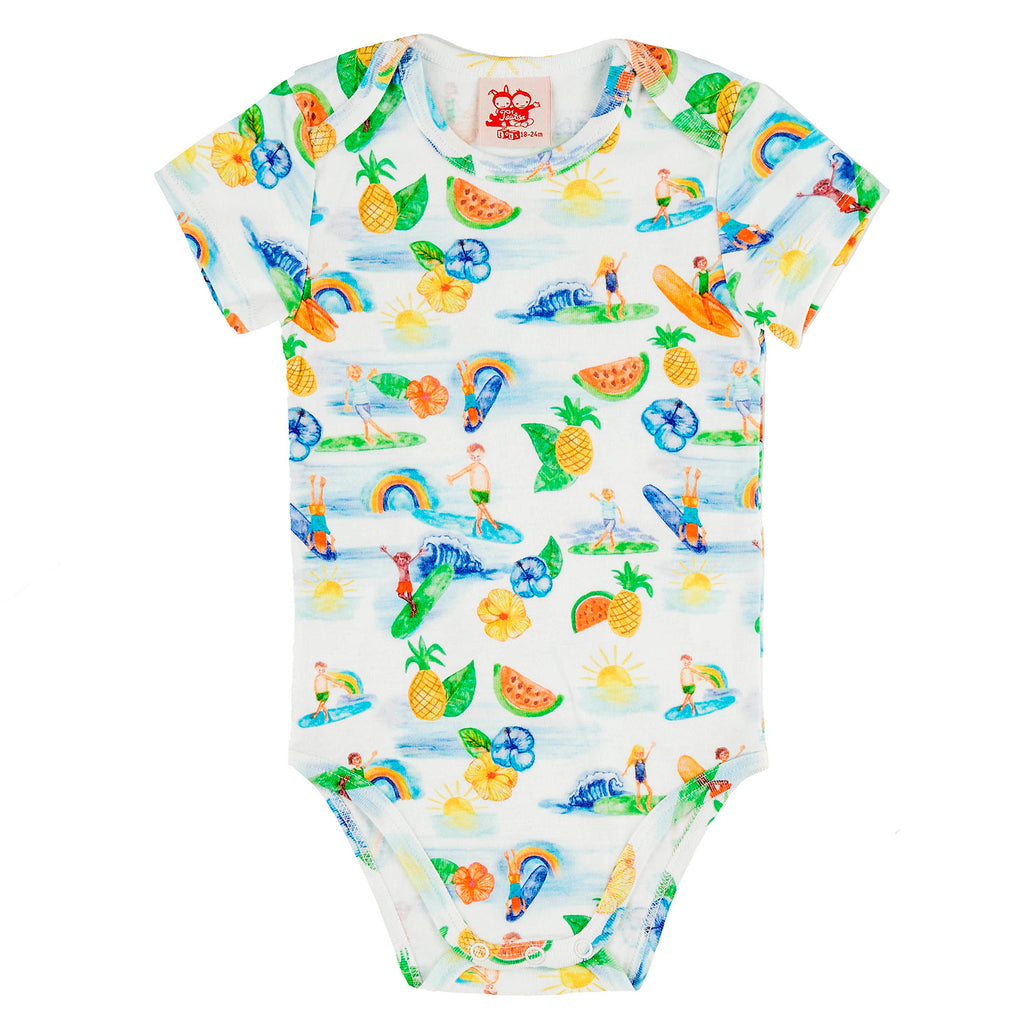 COCONUTS Tots Organic Cotton Body/White (Hawaiian)