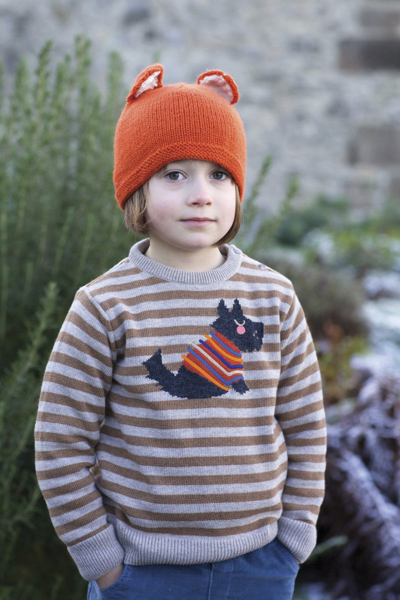 Hand Knitted Fox Hat / Marmalade