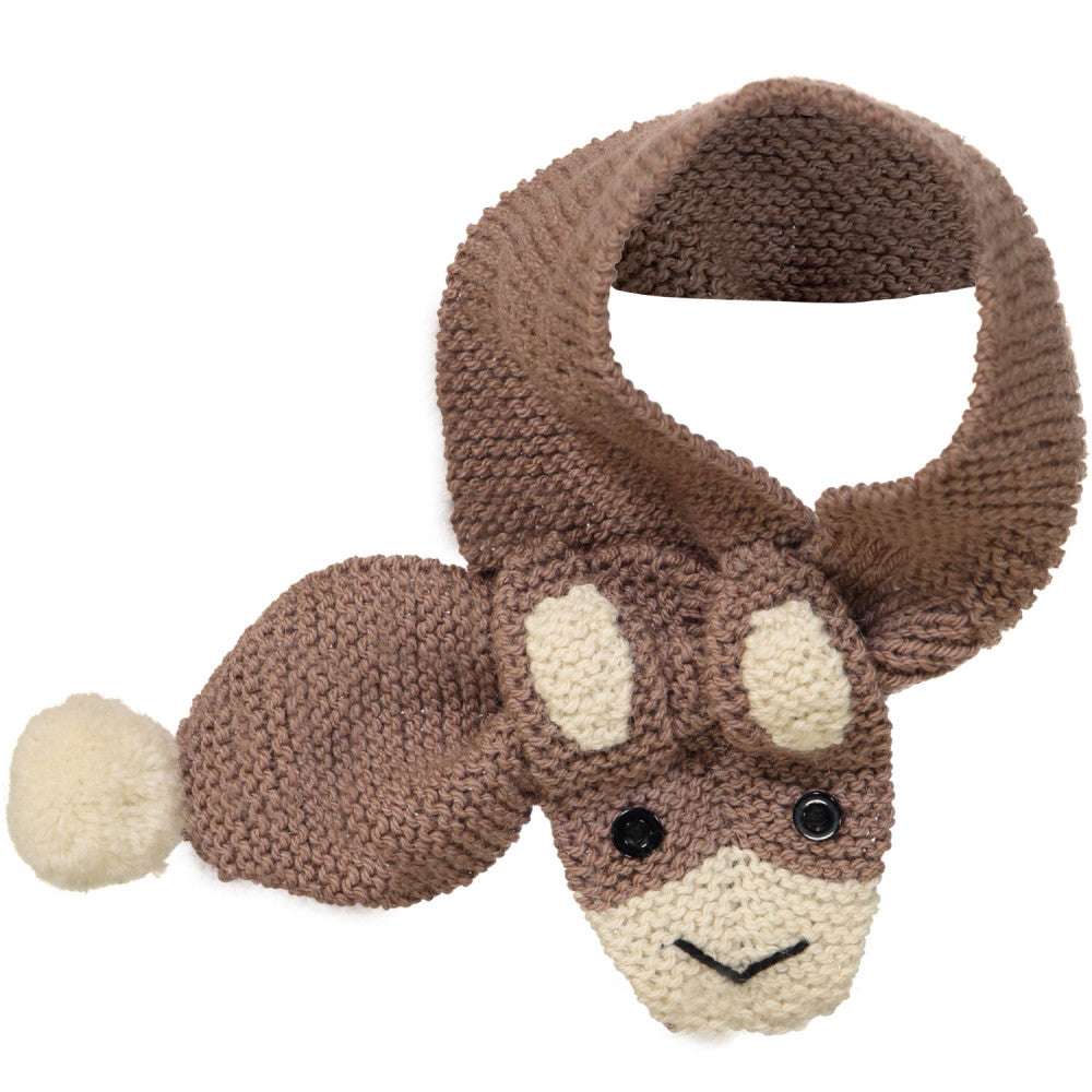 Hand Knitted Rabbit Scarf / Fudge