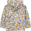 Kozi Tootsa Tots all over printed rain jacket/White