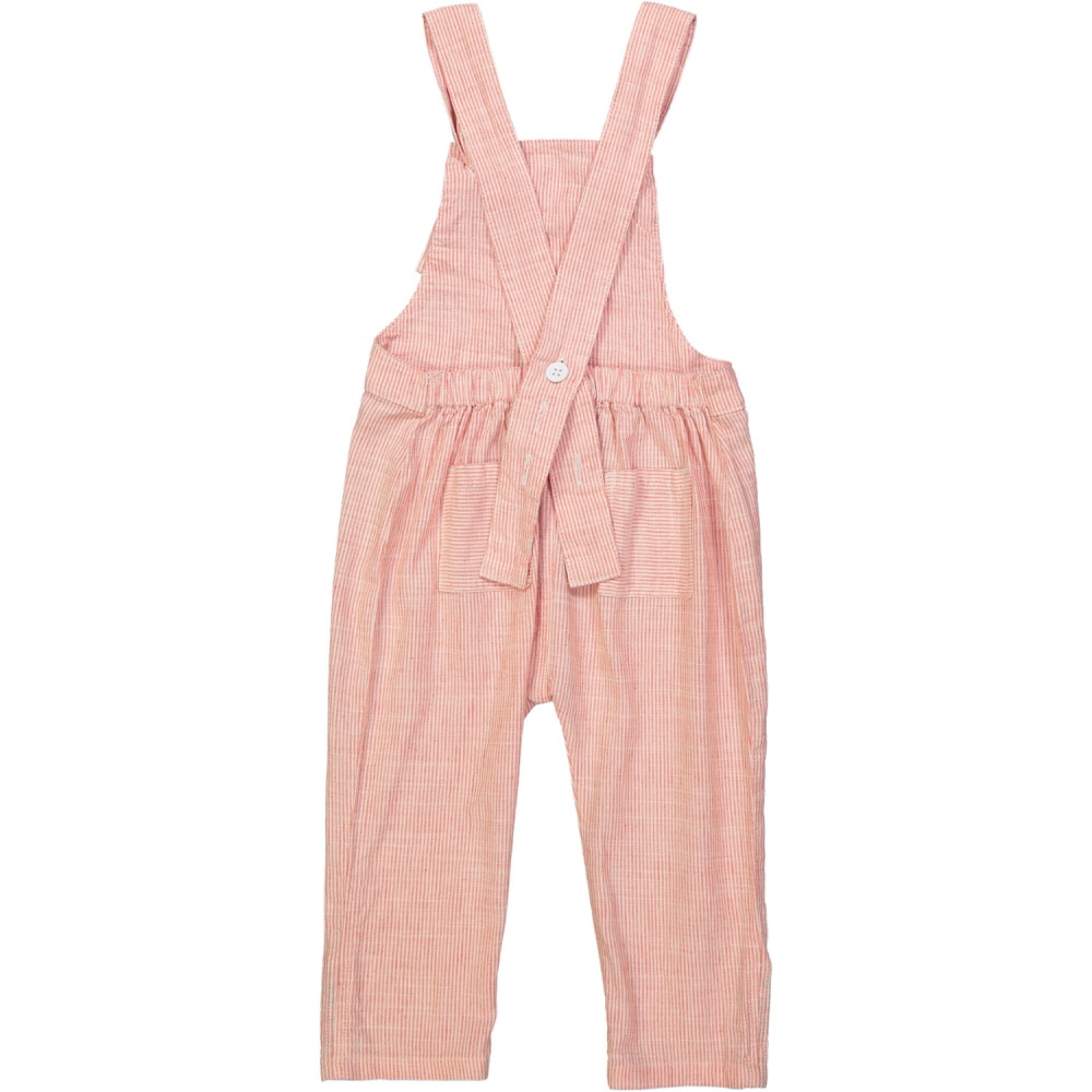 KOBE Tots Linen & Cotton Overalls/Coral
