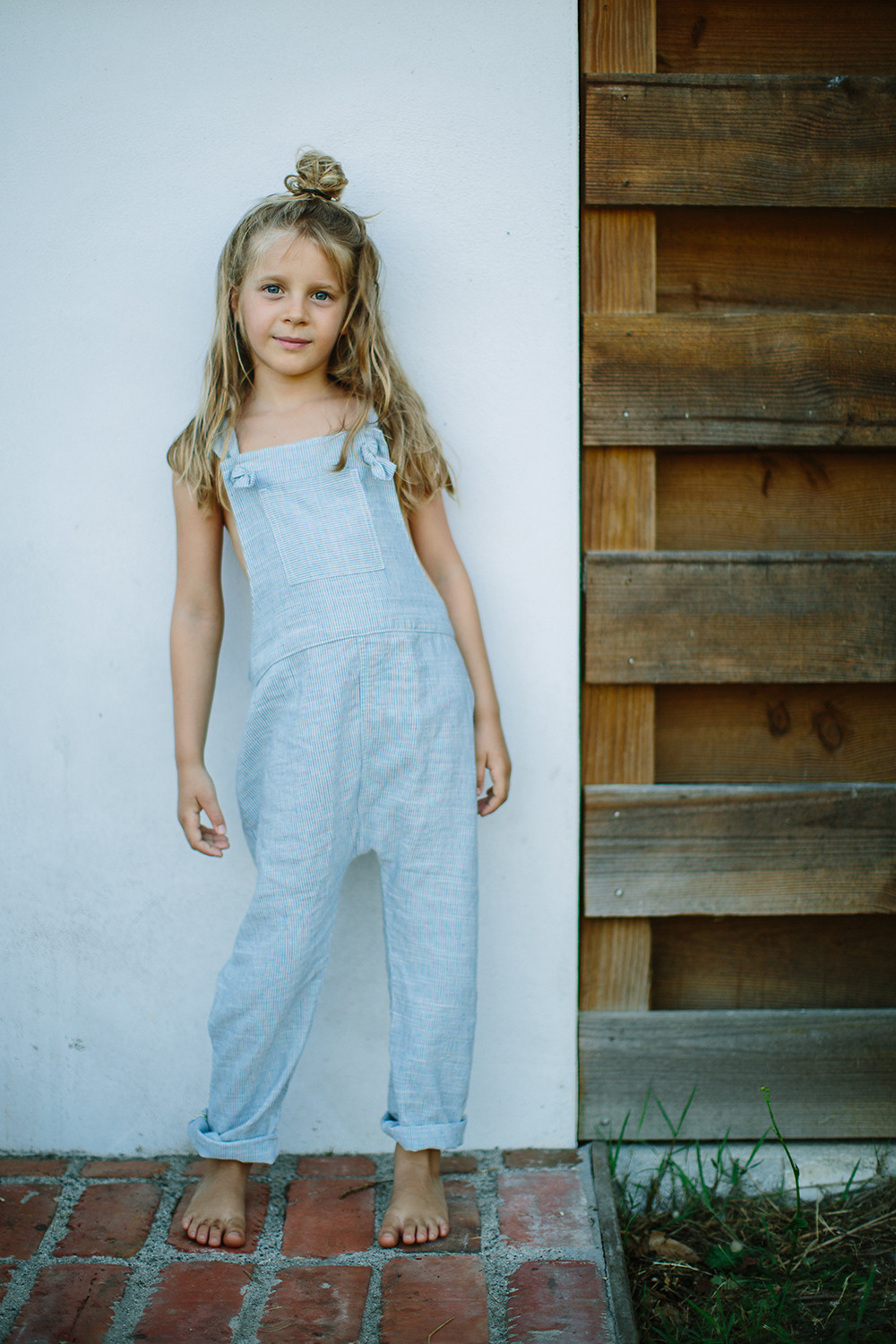 KOBE Linen & Cotton Overalls/Periwinkle