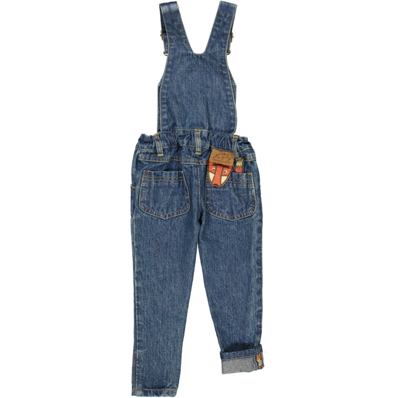 TOOTSA CLASSIC SLIM FIT DUNGAREES / Washed Blue
