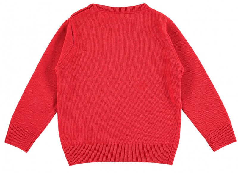 TOOTSA FOR CONRAN Baby Christmas Jumper / Pomegranate Red (Snowman Robot)