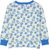 TEMAKI All over printed and embroidered sweatshirt/Bright Blue