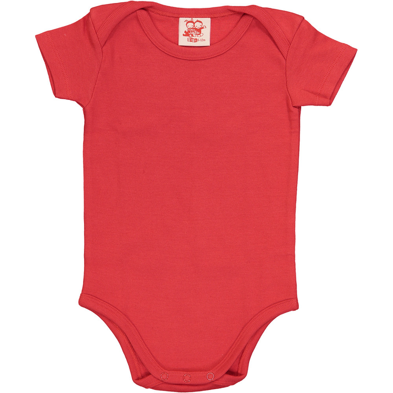ESSENTIAL Baby Unisex Plain Organic Cotton Bodies (Pack of 4)/Navy, Bright Red, Sun, Teal