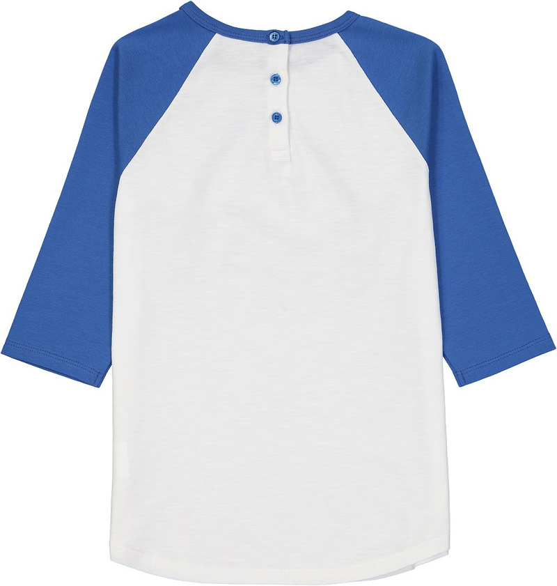 MANIS Organic Cotton Raglan Sleeve T-Shirt/Federal Blue