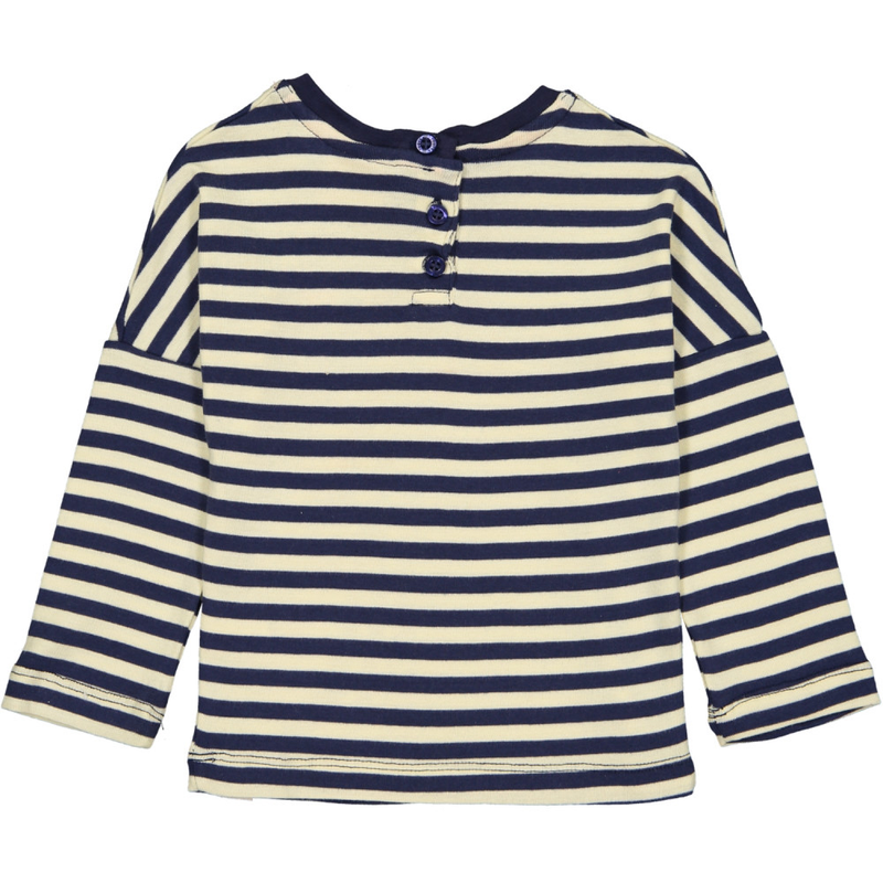 ESSENTIAL Baby Unisex Organic Cotton Long Sleeve T-shirts (Pack of 2)/Sun, Navy