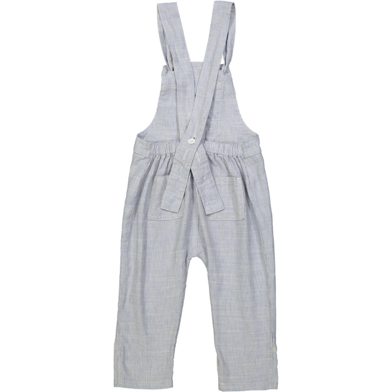 KOBE Tots Linen & Cotton Overalls/Periwinkle