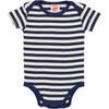 ESSENTIAL Baby Unisex Striped Organic Cotton Bodies (Pack of 4)/Navy, Bright Red, Sun, Teal