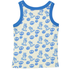 TOKOYO All over printed Tootsa Tots Vest Top/Bright Blue