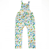 COCO BEACH Organic Cotton Jersey Dungarees/White (Hawaiian)