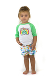 MALIBU Organic Cotton Jersey Shorts/White (Hawaiian)