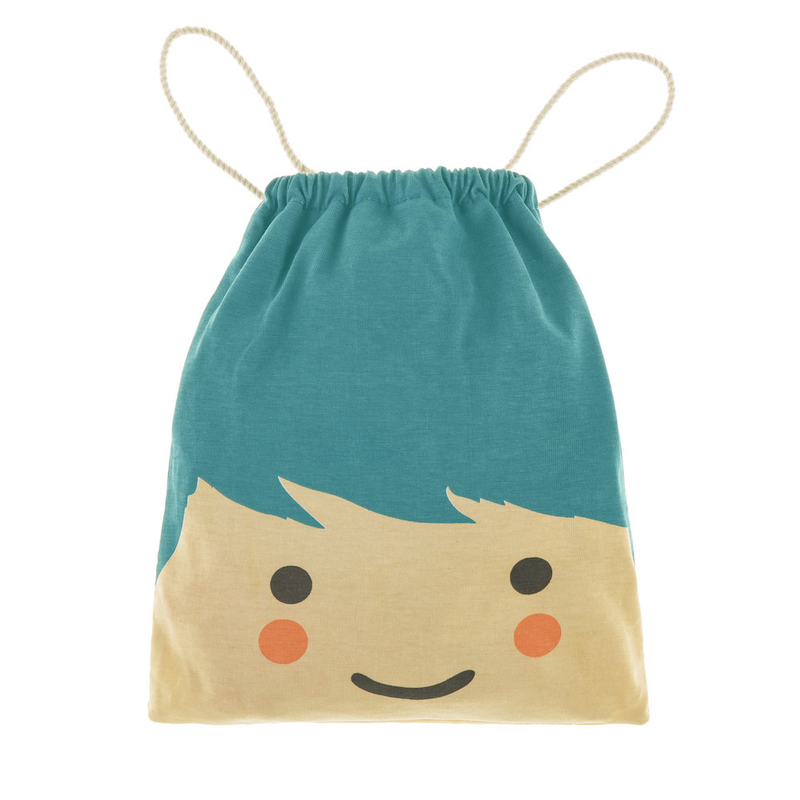 Cute Face Cotton Draw String Bag