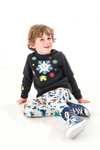 TOOTSA FOR CONRAN Baby Christmas Jumper / Charcoal (Snowflakes)