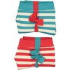 ESSENTIAL Baby Unisex Organic Cotton Bloomer Shorts (Pack of 2)/Bright Red, Teal