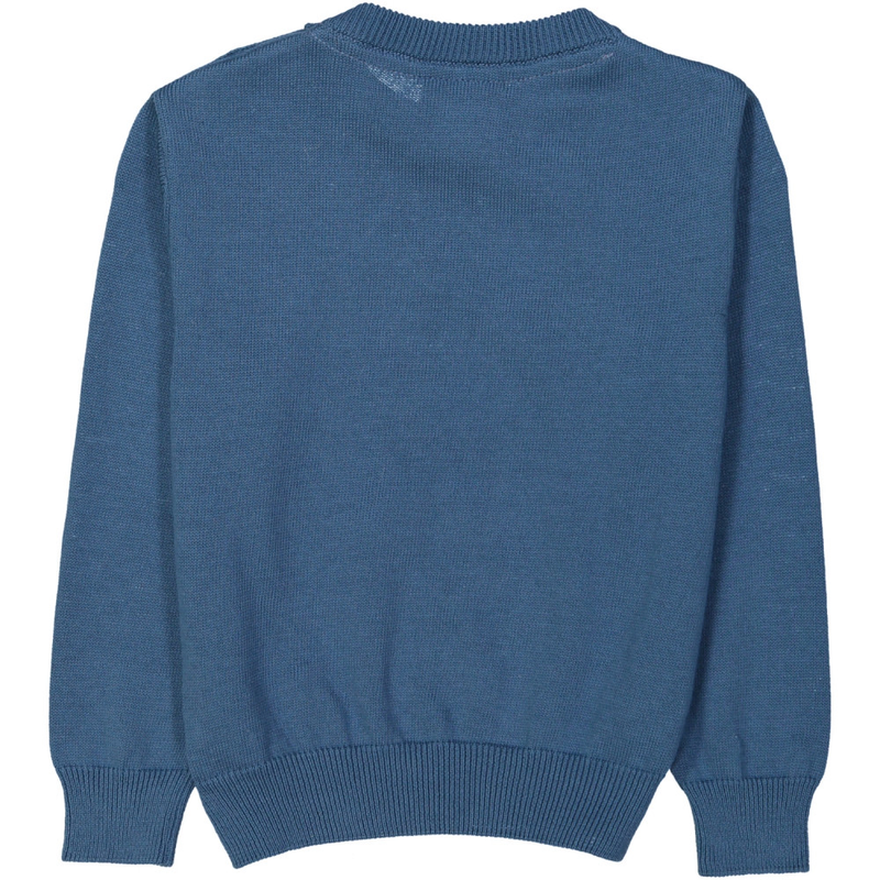 KYOTO Tootsa Tots jaquard knit jumper/Ink Blue