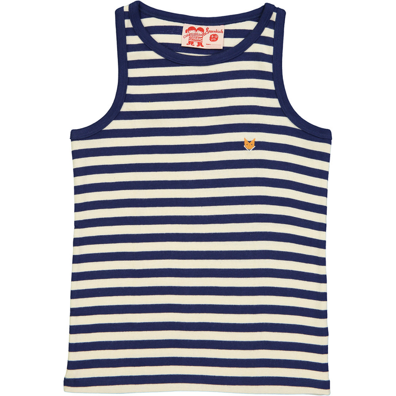 ESSENTIAL Organic Cotton Vest tops (Pack of 2)/Sun, Navy