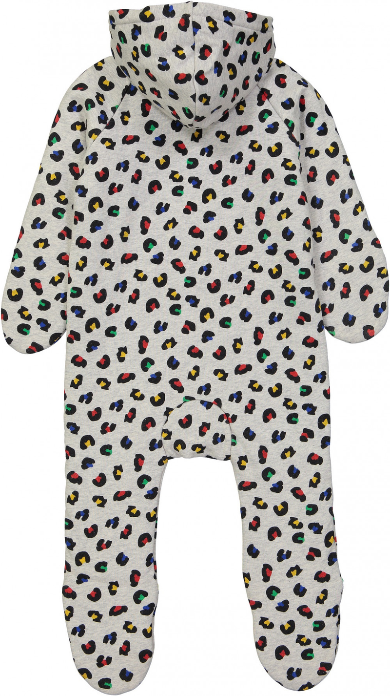 PONGO Baby Unisex Organic Cotton Fleece Pram Suit/Heather Grey