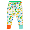 THE PASS Tots Organic Cotton Harem Pants/White (Hawaiian)