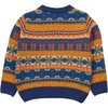 ORIZURU Tootsa Tots Fairisle Knit Cardigan/Multicoloured