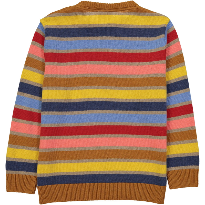 KASUMI Knit Jumper/Toffee (Striped)