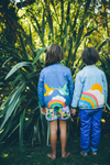 SUNRISE Veste / Denim Foncé (Birds & Rainbow)
