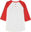 MANIS Organic Cotton Raglan Sleeve T-Shirt/Bright Red