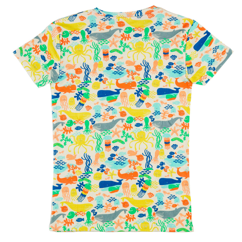 ULUWATU Organic Cotton T-shirt/Multicoloured (Under The Sea)