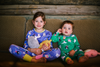 TOOTSA TOTS x NOODOLL All over printed organic cotton Pyjamas/Apple Green