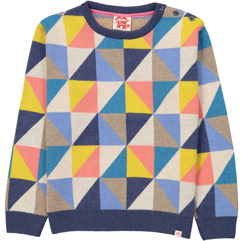 KASUMI Knit Jumper/Multicoloured (Triangles)