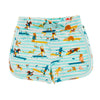 MALIBU Organic Cotton Jersey Shorts/Aruba Blue (Surfers Stripe)