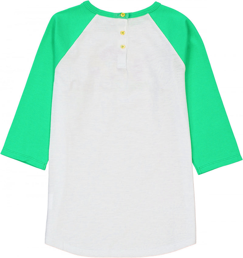 BUNDORAN Organic Cotton Raglan Sleeve T-shirt/Apple Green (SAS)