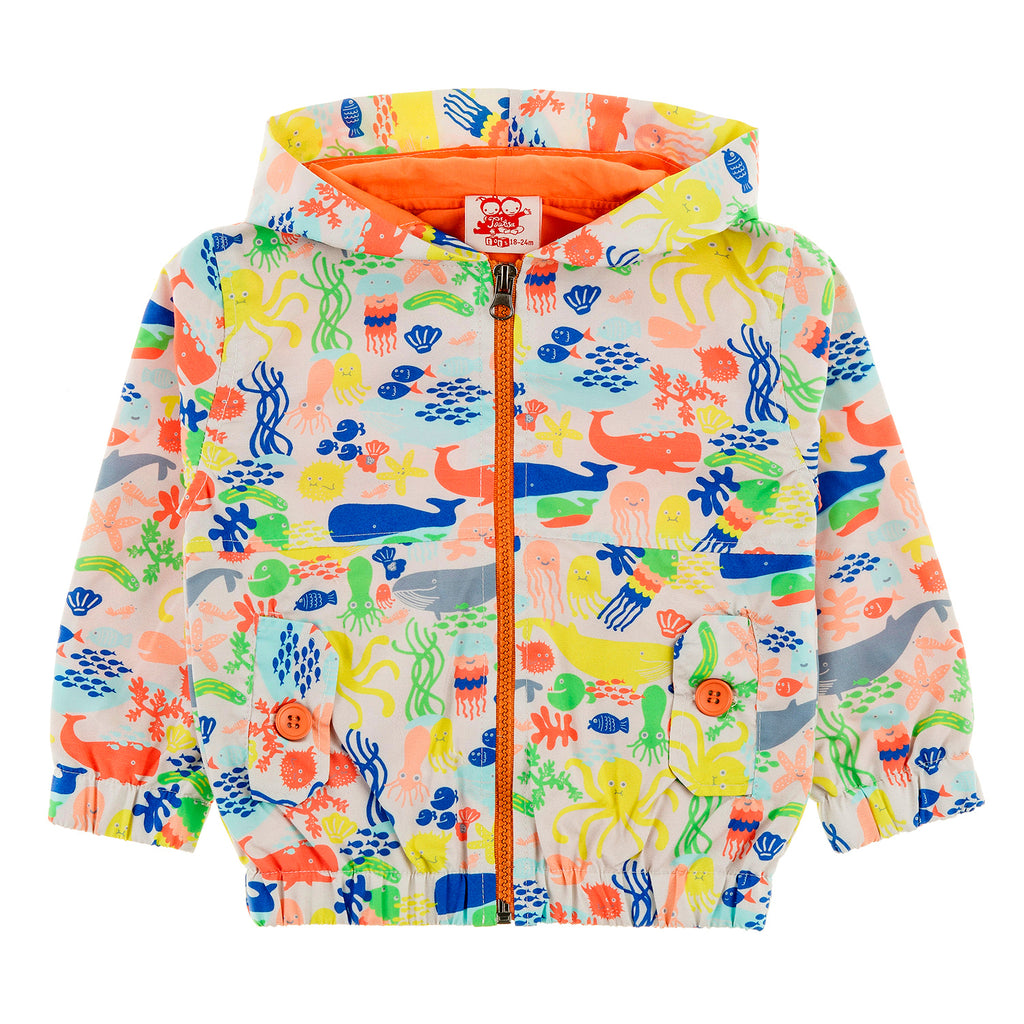 MAUI Tots All Over Printed Rain Jacket/Multicoloured (Under The Sea)