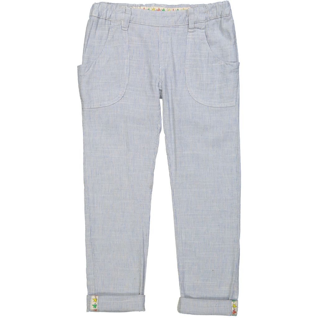 NARA Linen & Cotton Loose Fit Trousers/Periwinkle