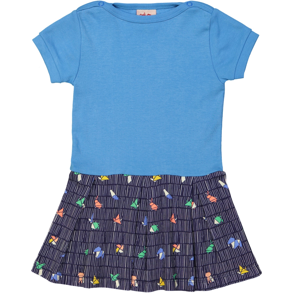 NOODLE Tootsa Tots Organic Cotton Dress/Ink
