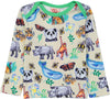 PANDA Baby Unisex Organic Cotton Long Sleeve T-Shirt/Creme