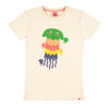 PASTA POINT Organic Cotton Slim Fit T-shirt/Cream (Jellyfish)