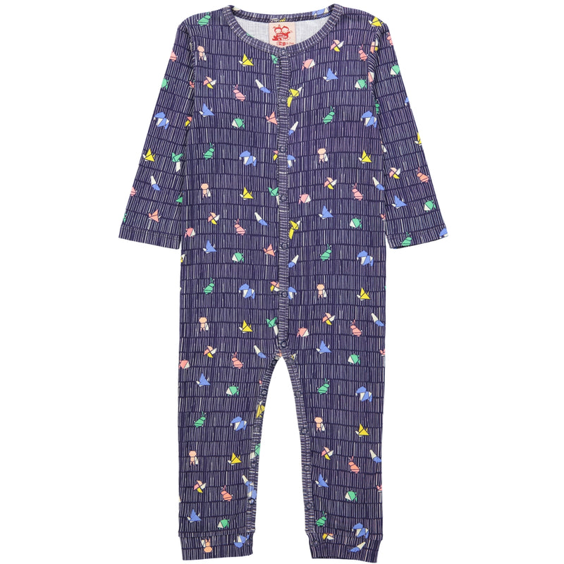 POKETTO All over printed Tootsa Tots romper/Navy
