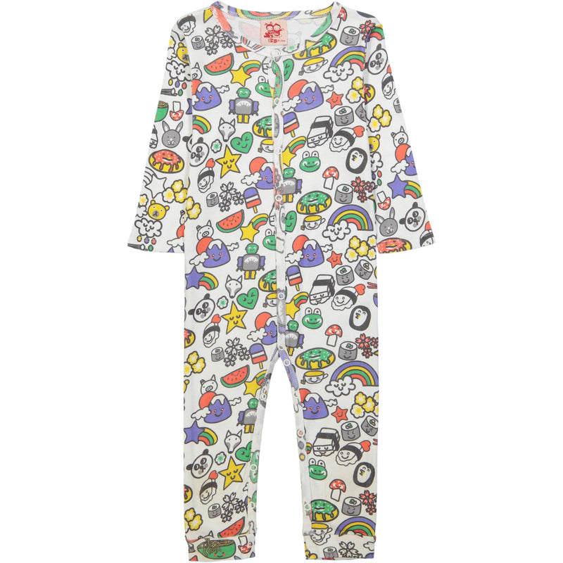 POKETTO All over printed Tootsa Tots romper/White