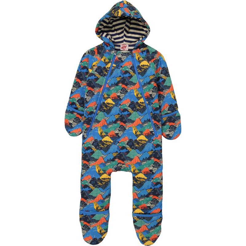 SAMUI Tootsa Tots Pramsuit Organic Cotton Fleece/Navy