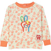 TEMAKI All over printed and embroidered sweatshirt/Coral