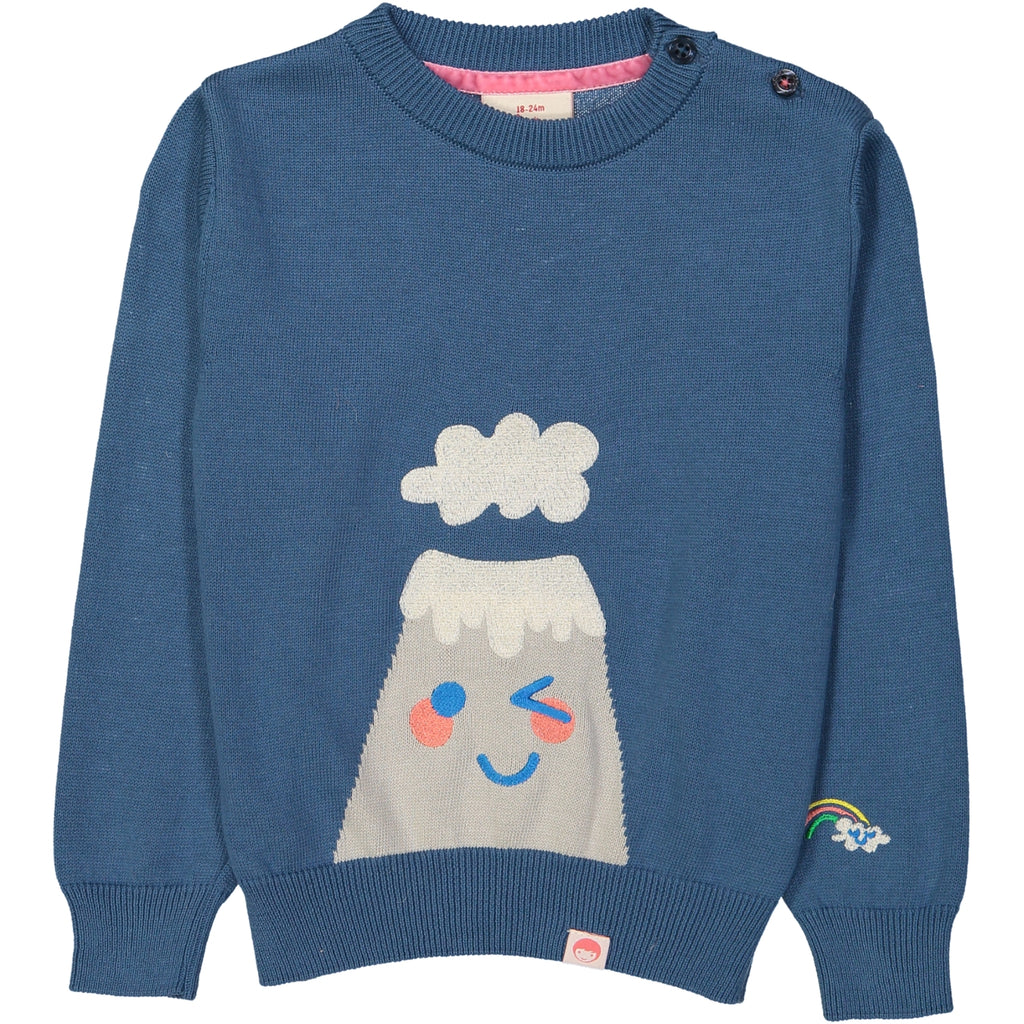 KYOTO  Jacquard knit jumper/Ink Blue