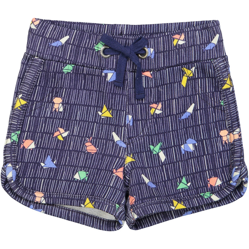 SOPORRO All over printed jersey shorts/Navy