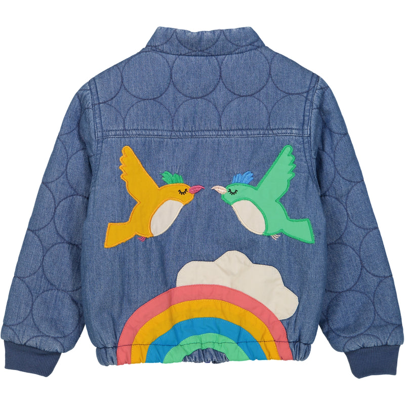 SUNRISE JACKET/Dark Denim (Birds & Rainbow)