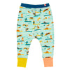 THE PASS Tots Organic Cotton Harem Pants/Aruba Blue (Surfers Stripe)